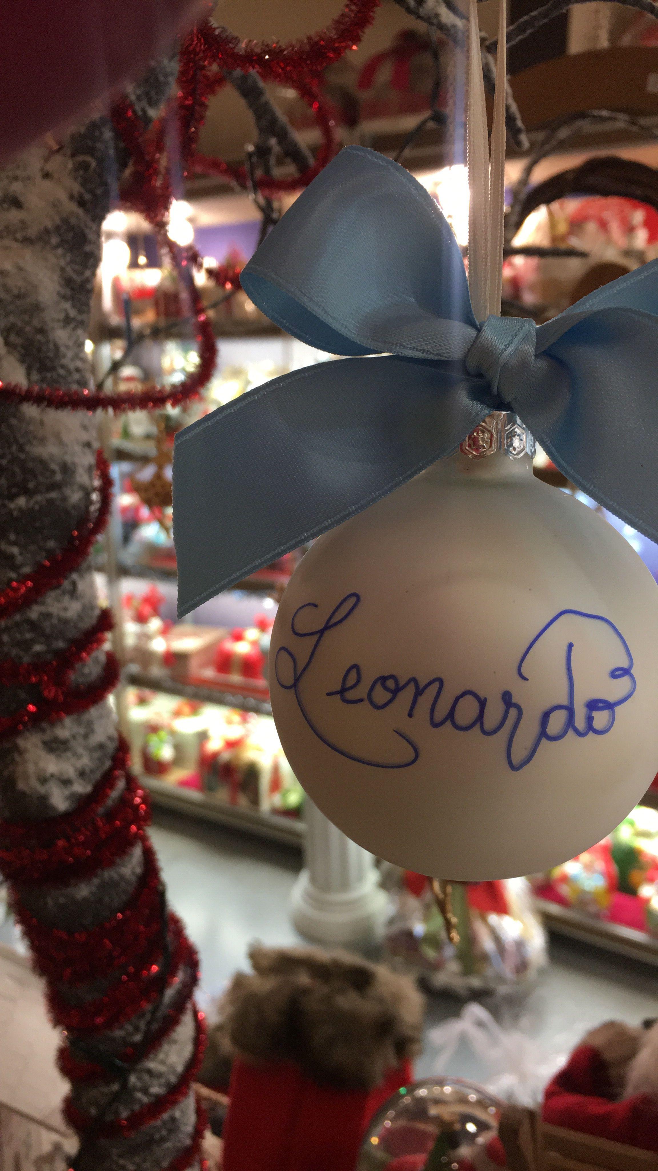 Immagini Di Natale Con Nomi.Pin Di Claudia Venturini Su Palline Di Natale Con Nome