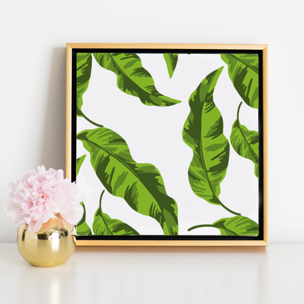 Banana Leaves Canvas In A Gold Frame Leaf Photography Canvas Art Gallery Wall Frames