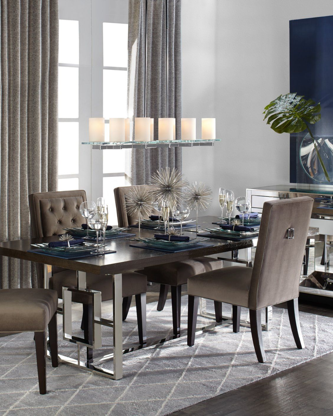 Get Inspired By Spring Favorites Like Our Modern Architectural Rylan Extending Dining Table Add Texture And Glam To Any E With The Scoppio Starburst
