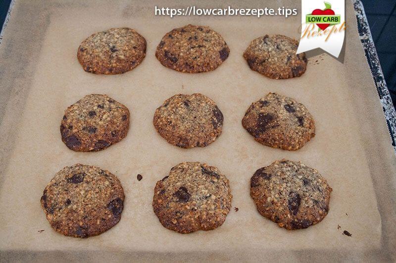 Low Carb Orangen-Schoko Kekse gebacken