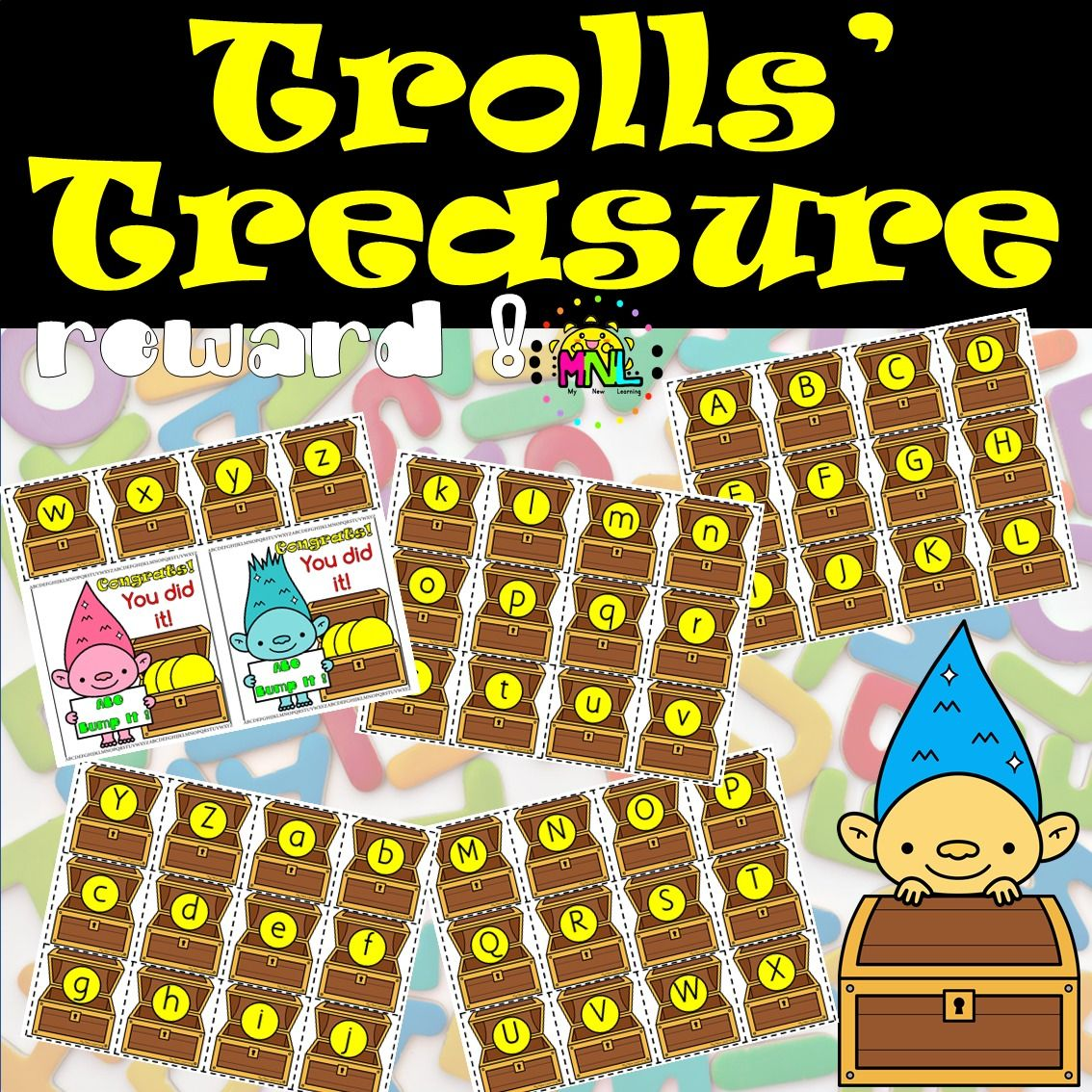 Abc Alphabet Bump It Game And Tracing Worksheets Trolls