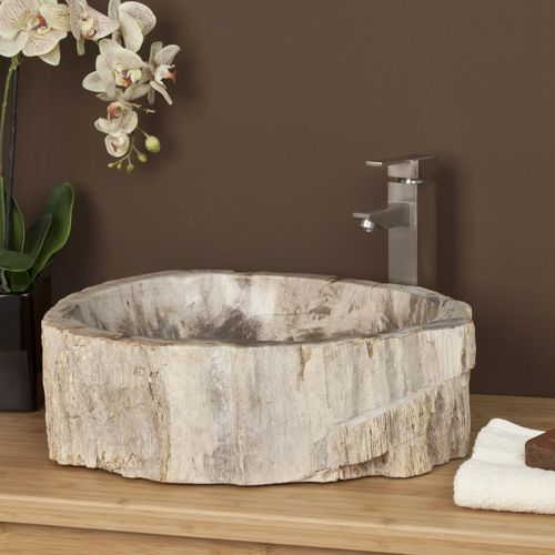 Innes Petrified Wood Vessel Sink Bathroom Ideas Pinterest - Vessel Sinks Bathroom