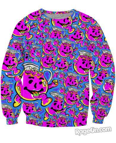 Kool Aid Crewneck Sweatshirt Crew Neck Sweatshirt Sweatshirts Printed Sweatshirts