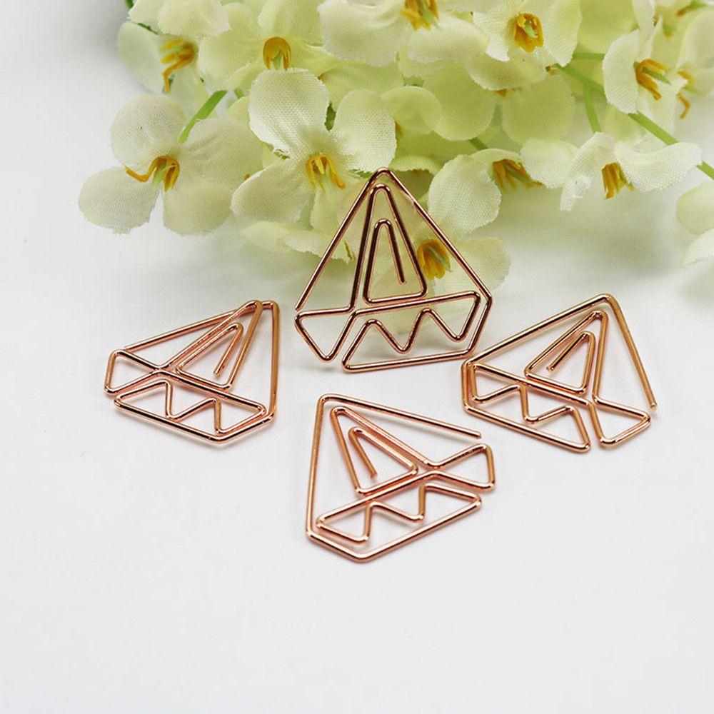 Barato 30 pcs Clipes de Papel de Luxo Diamante Rosa de Ouro com ...