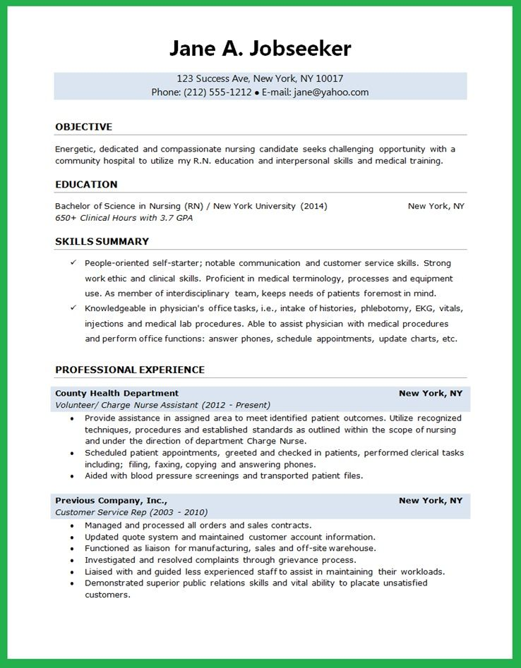 Sample Nursing Curriculum Vitae Templates - Http://Jobresumesample