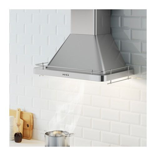 Ikea Kitchen Vent: DÅTID Exhaust Hood, Stainless Steel