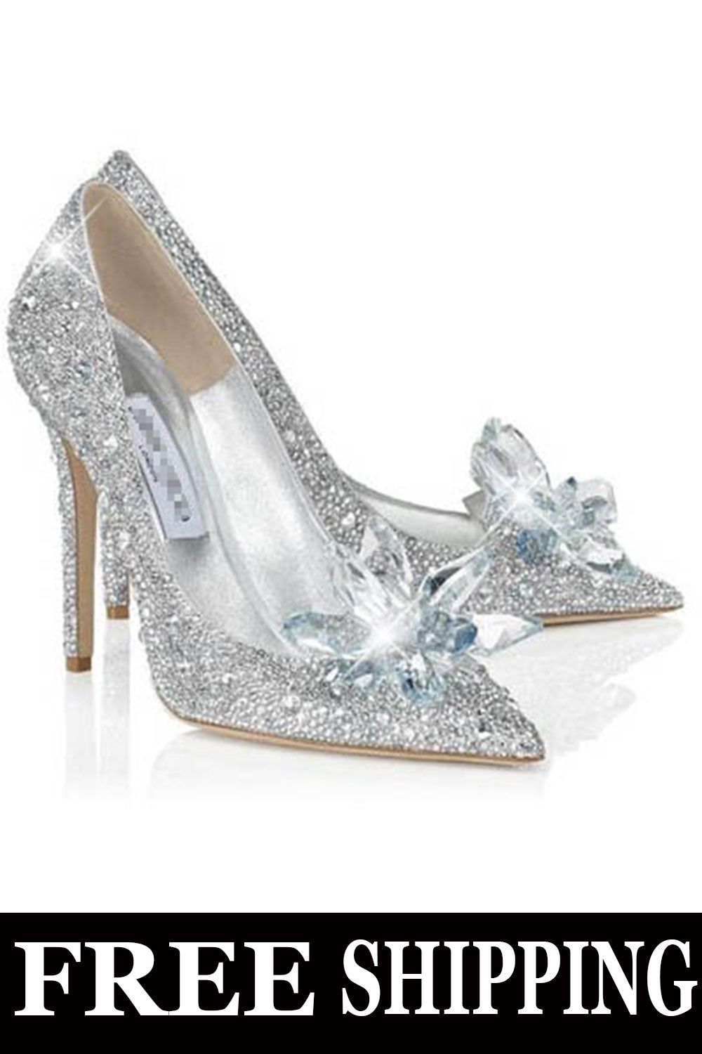 acf867add2eb Buy Shoespie Glitter Silver Charming Point Toe Crystal Cinderella Wedding  Prom Shoes From Shoespie.com.You will find many fashionable products from  Hottest ...