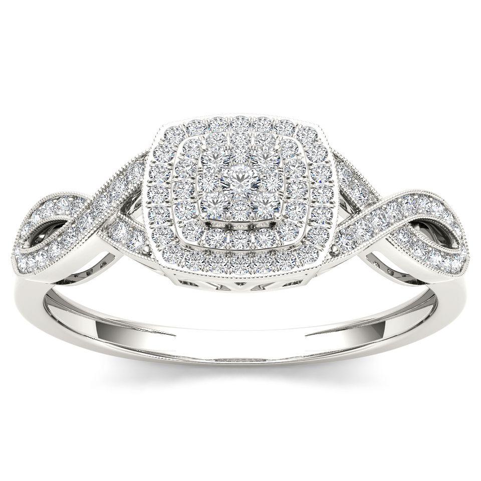 <li>White diamond engagement ring</li> <li>10k white gold jewelry</li> <li><a href='http://www.overstock.com/downloads/pdf/2010_RingSizing.pdf'><span class='links'>Click here for ring sizing guide</span></a></li>