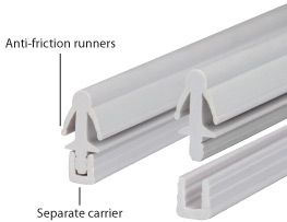 Two Piece Parting Bead 2.4m Length White from Mighton