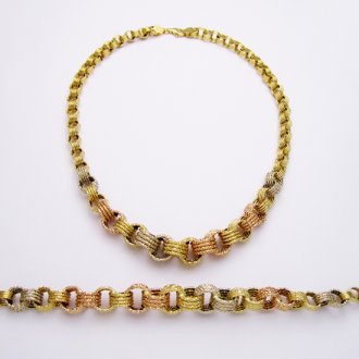 Necklace with Bracelet 18kt Gold Set httpantoinesalibacom