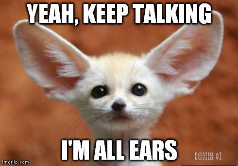 fb7d2cd6adc300f36c82600d9fda7ef2 all ears meme yeah, keep talking i'm all ears image tagged in,Muah Meme