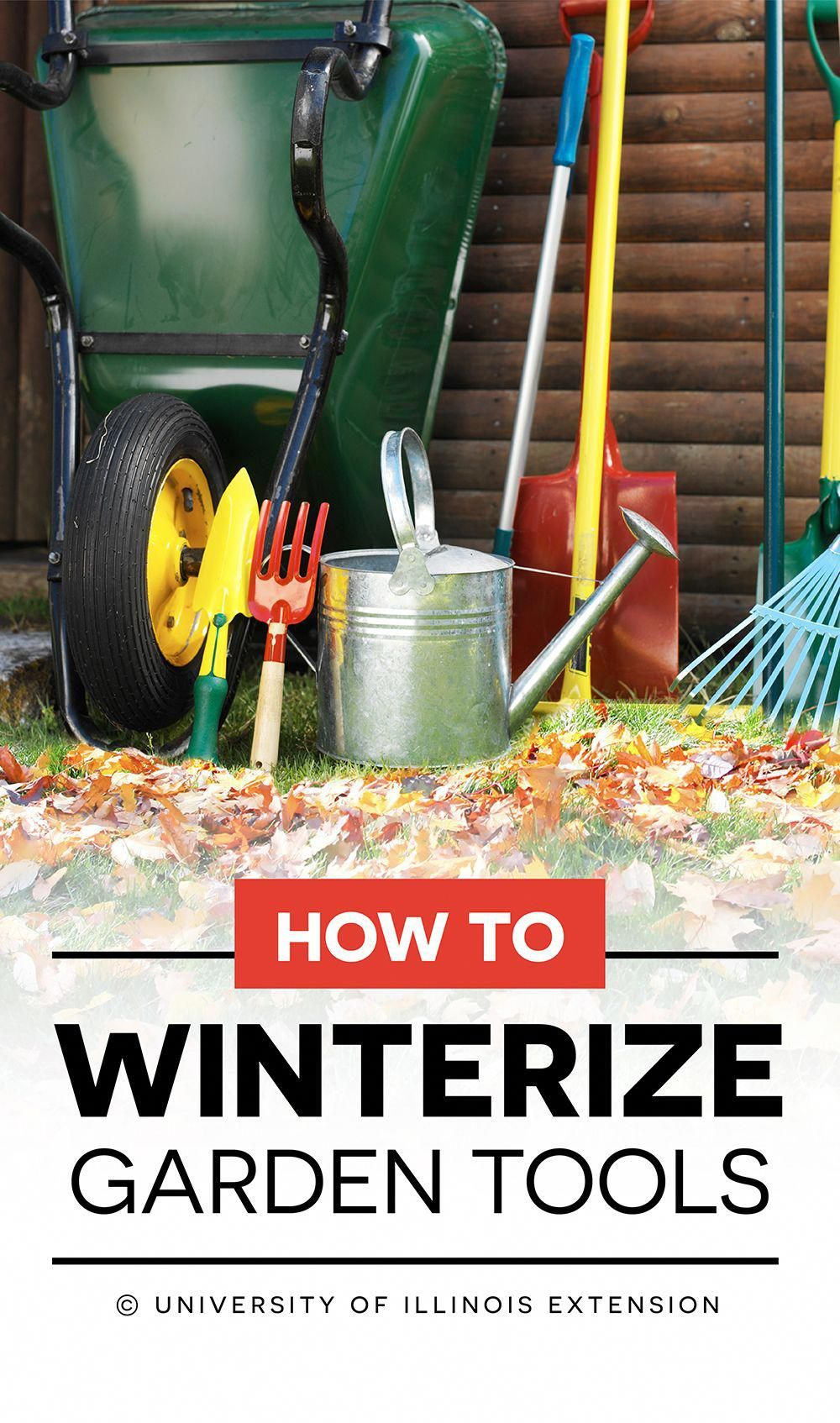 How to Winterize Garden Tools great winter prep guide!