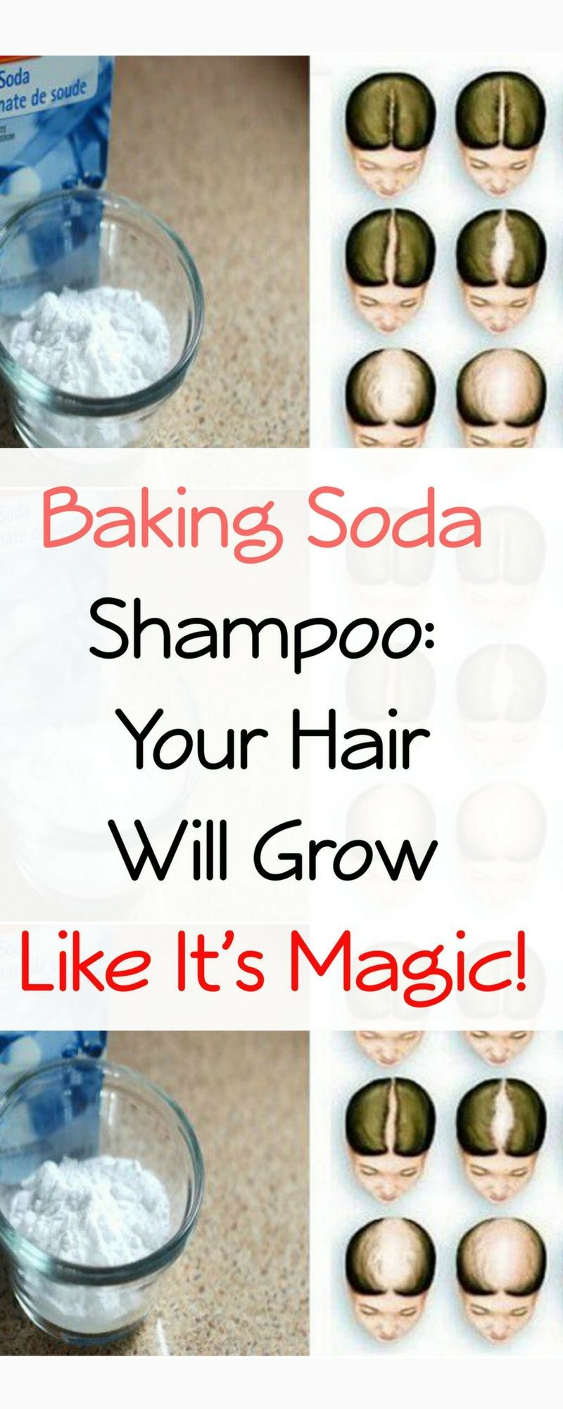 Baking soda for Hair growth and Hair Thickening