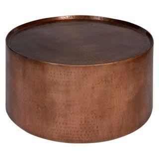 Handmade Wanderloot Rotonde Hammered Copper Metal Industrial Round