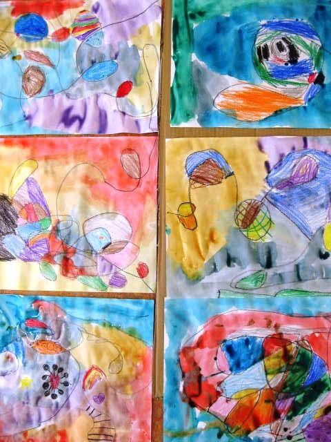 lines go walking in kindergarten art lessons for kids school