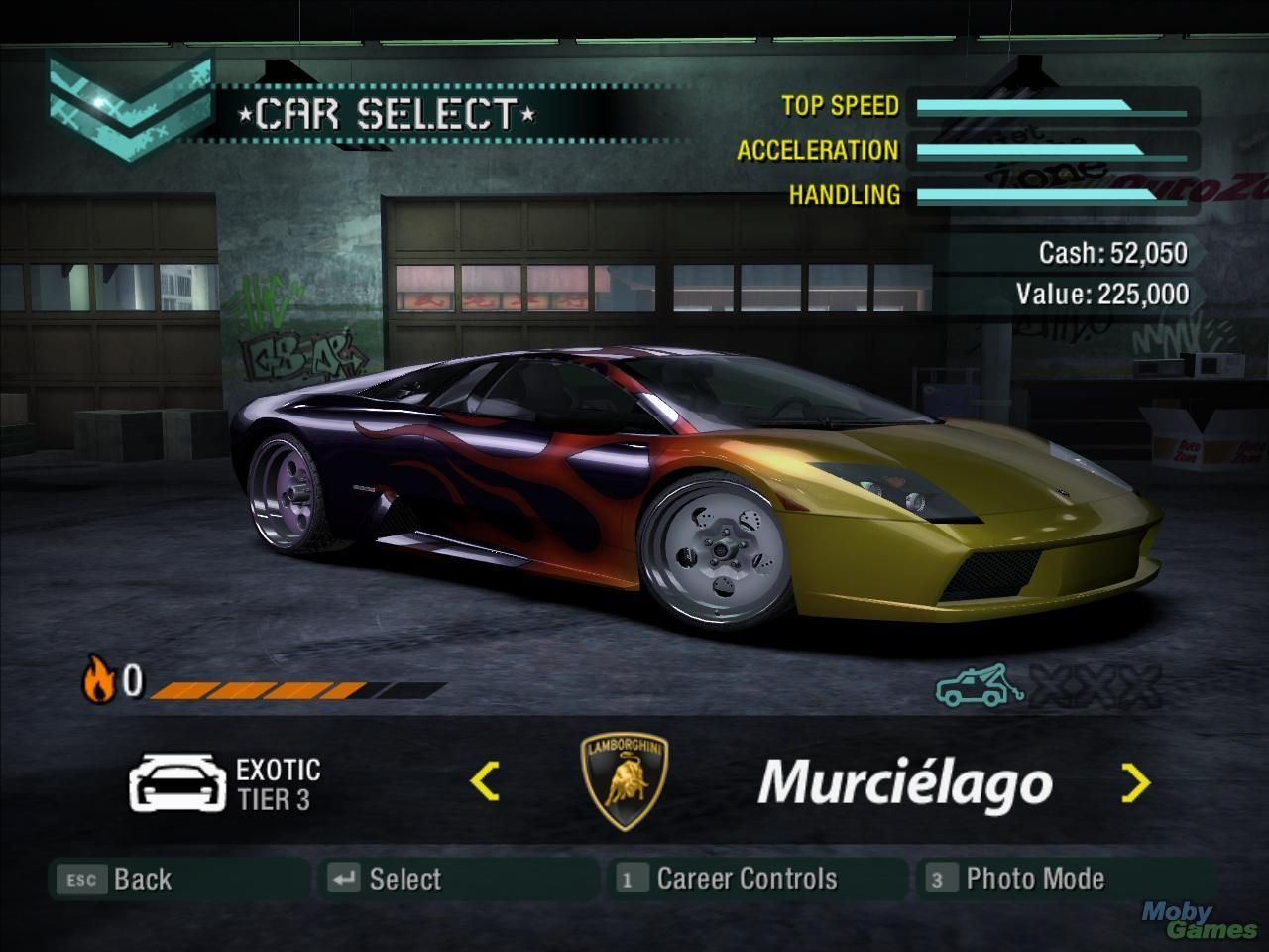 Need For Speed Carbon Windows Car Selection Screen Have You Ever Seen A Lamborghini More Tacky Than This One Car Need For Speed Games Need For Speed