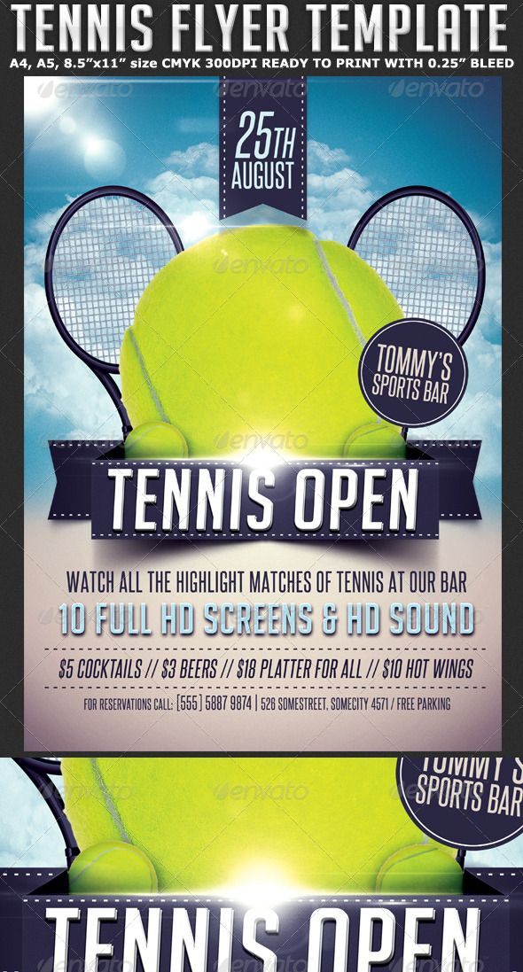 Tennis Flyer Template Free Templates Print Posters Building Icon