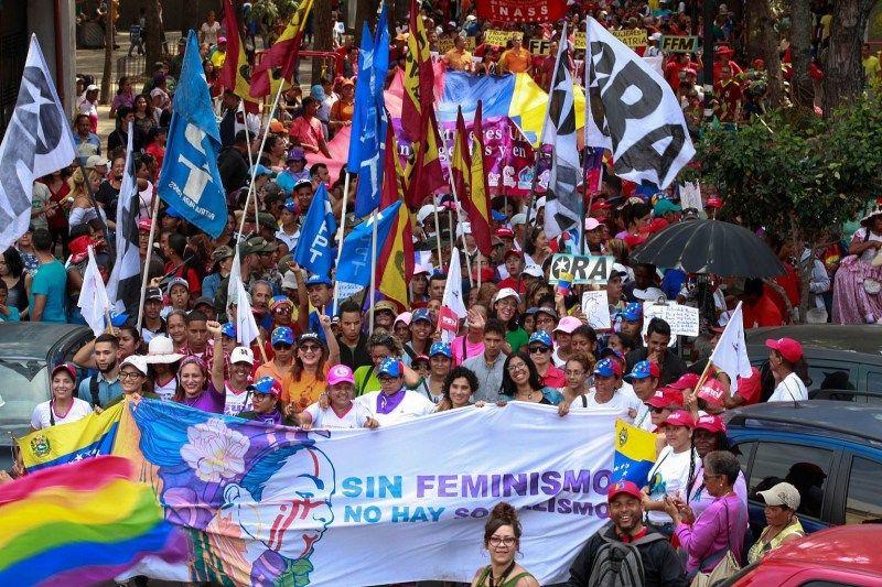 Venezuela International Women's Day March in Photos in