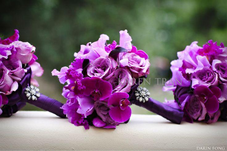 Powerful Purple Bridal Bouquet   Via Denise Reineking