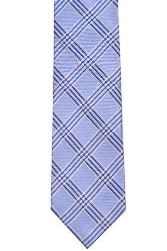 Silk Handkerchief - Green base and stripes in blue and white Notch e9Sef