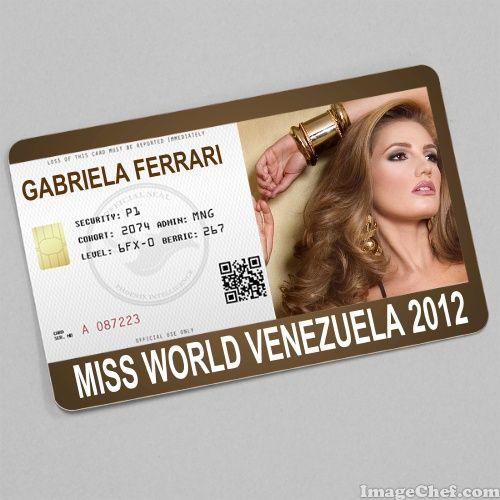 Gabriela ferrari miss world venezuela 2012 card id card gabriela ferrari miss world venezuela 2012 card pronofoot35fo Gallery
