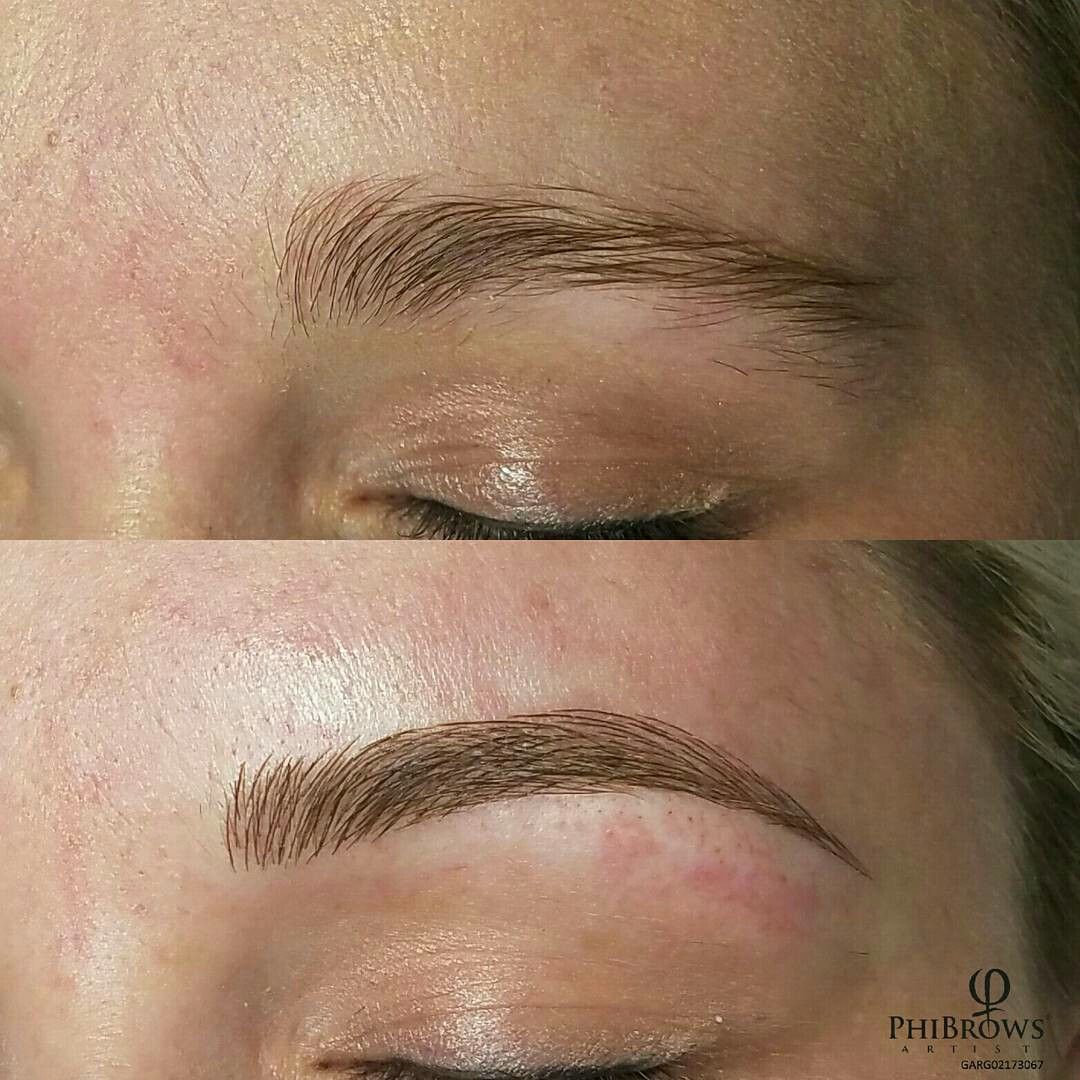 Eyebrow Microblading, Shaping, Before and after ...