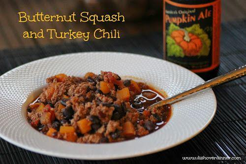 Butternut squash & turkey chili