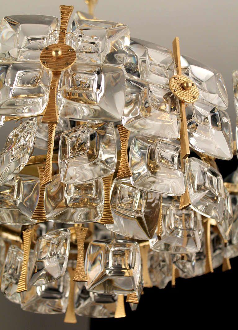 1960s german palme und walter glass crystal pendant chandelier 1960s german palme und walter glass crystal pendant chandelier from a unique collection of mozeypictures Gallery