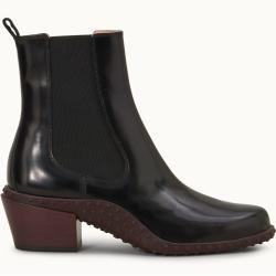 Tod's – Ankle Boots aus Leder, Schwarz, 37.5 – Shoes Tod's – Bolsa de moda
