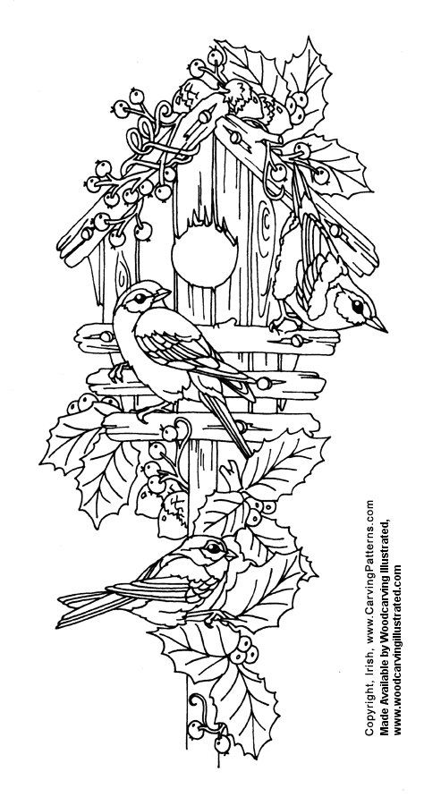 Free Coloring Pages Bird Houses. Birdhouse  coloring page for Callie Pattern Wood burning but can also be used decorative