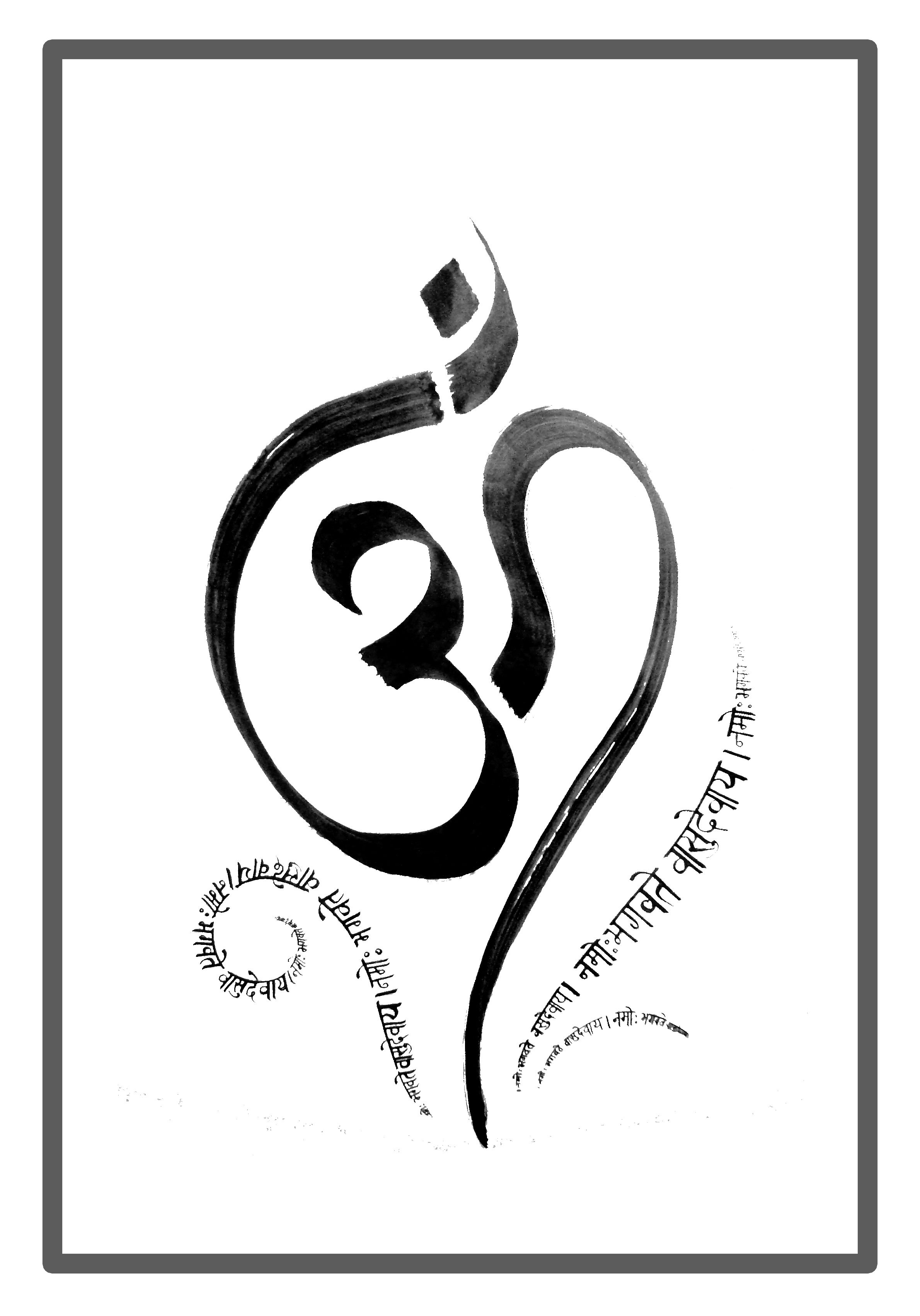 Quot aum devanagari calligraphy indian art pinterest