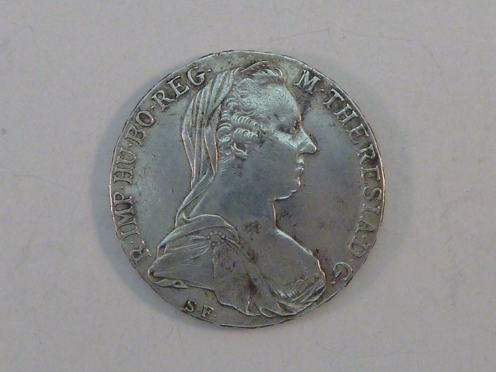 Austrian Silver 833 Coin 1780 Austrian 1 Thaler R Imp Hu Bo Reg M