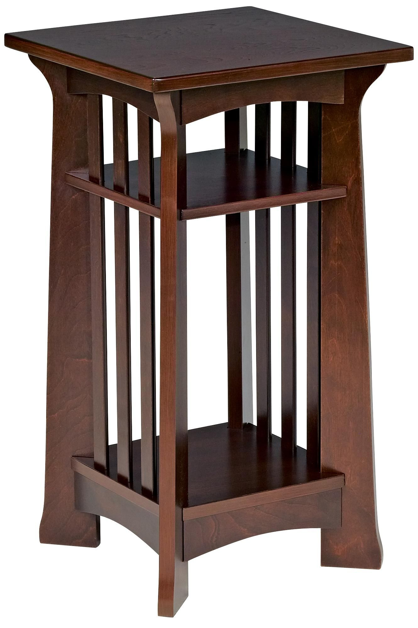 Edgewater Collection Espresso Finish Plant Stand - Lampspluscom