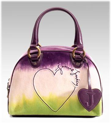 Juicy Couture Tye Dye Velour Bowler Bag