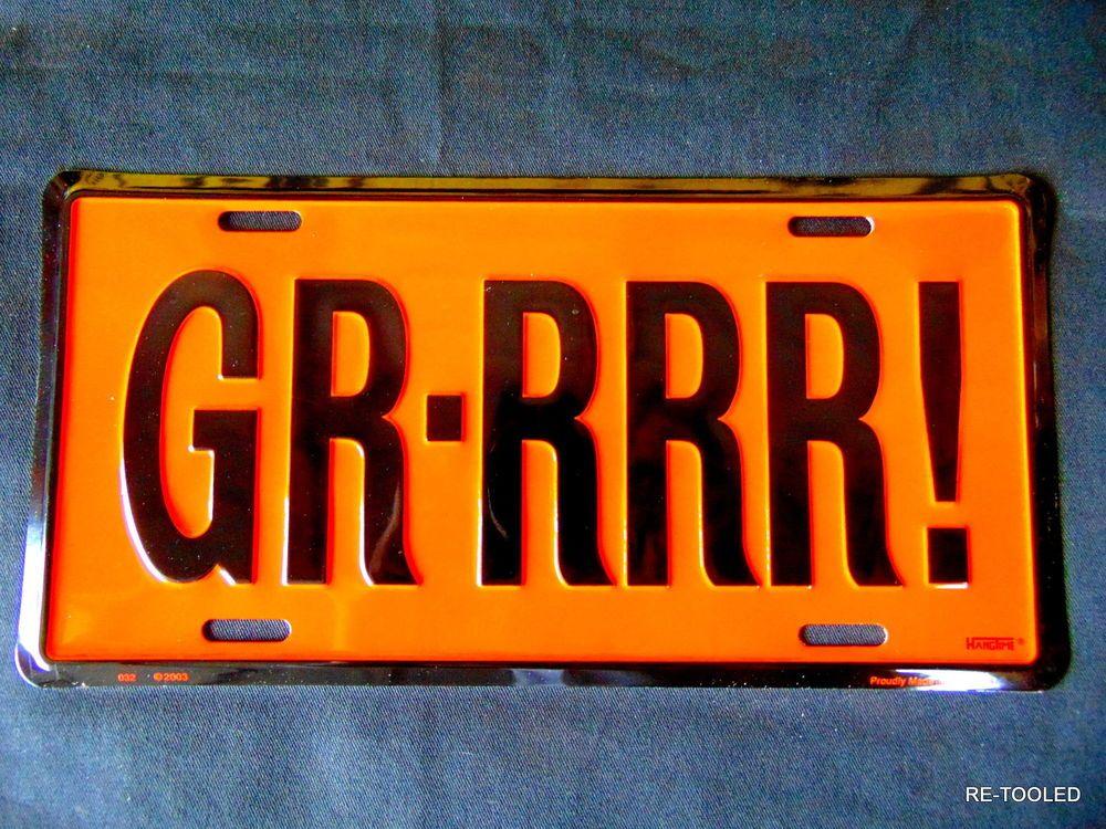 Pontiac GTO LeMans GRRRR Classic Car Accessory License