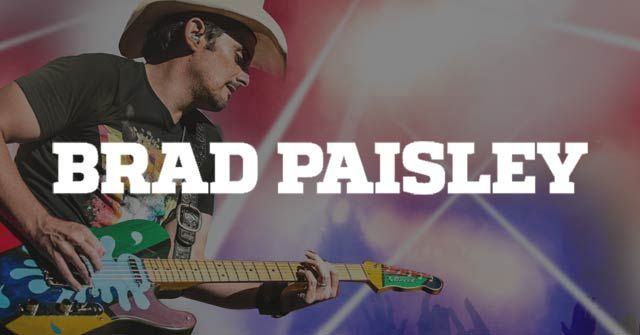 Brad Paisley tour dates, advance tickets, venues and more.