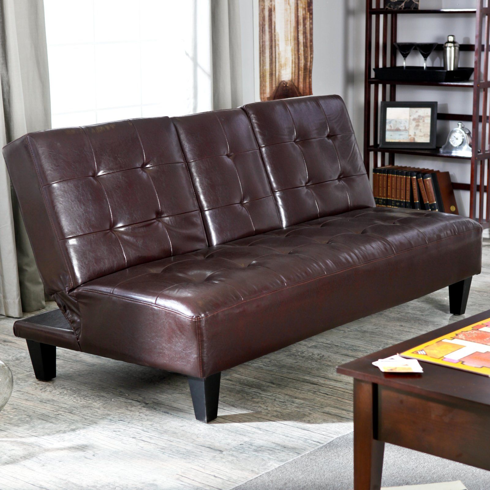 Wondrous Have To Have It Elite Savannah Brown Synthetic Leather Theyellowbook Wood Chair Design Ideas Theyellowbookinfo