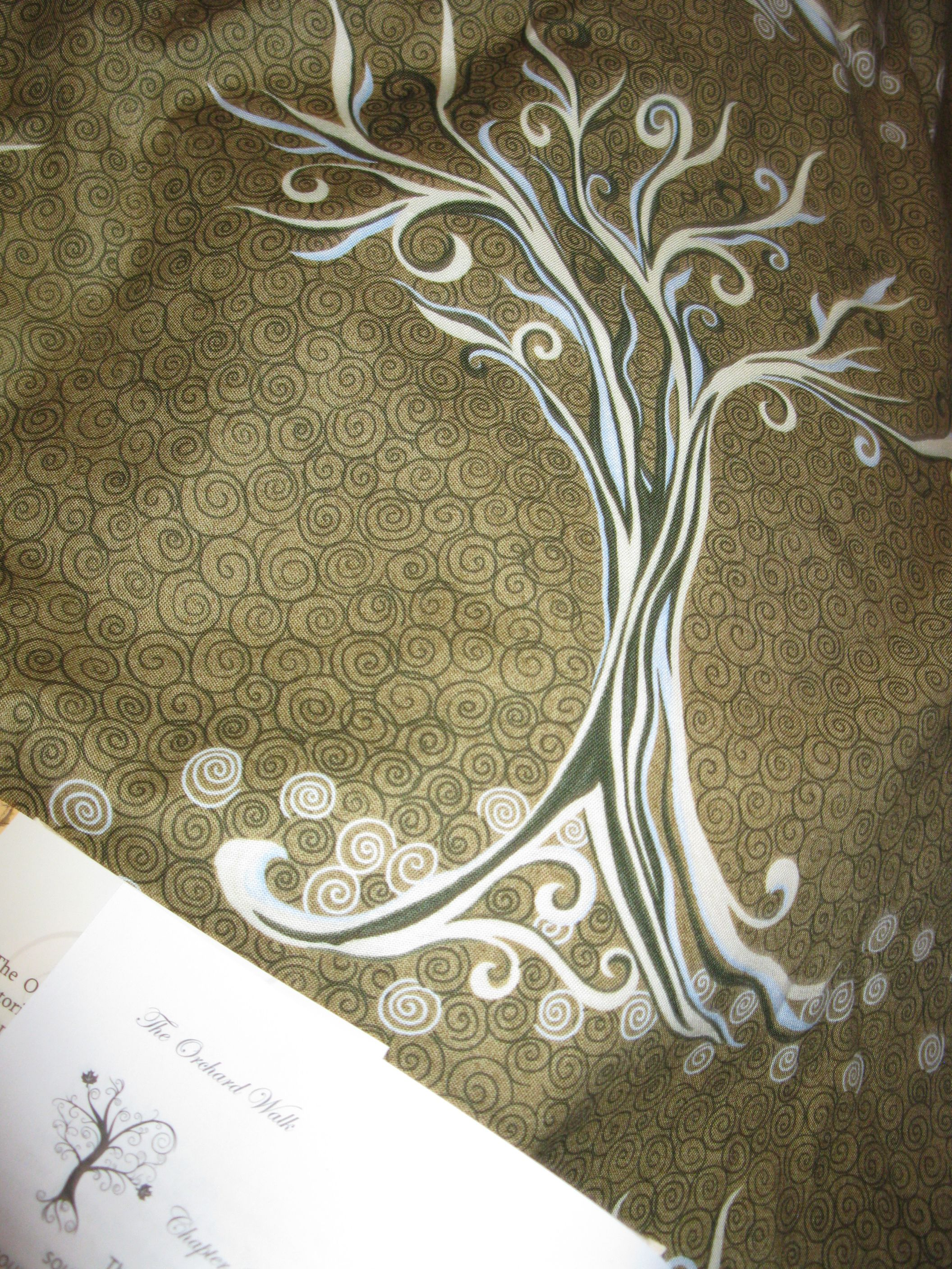 I chose this fabric for 'The Orchard Walk' quilt.