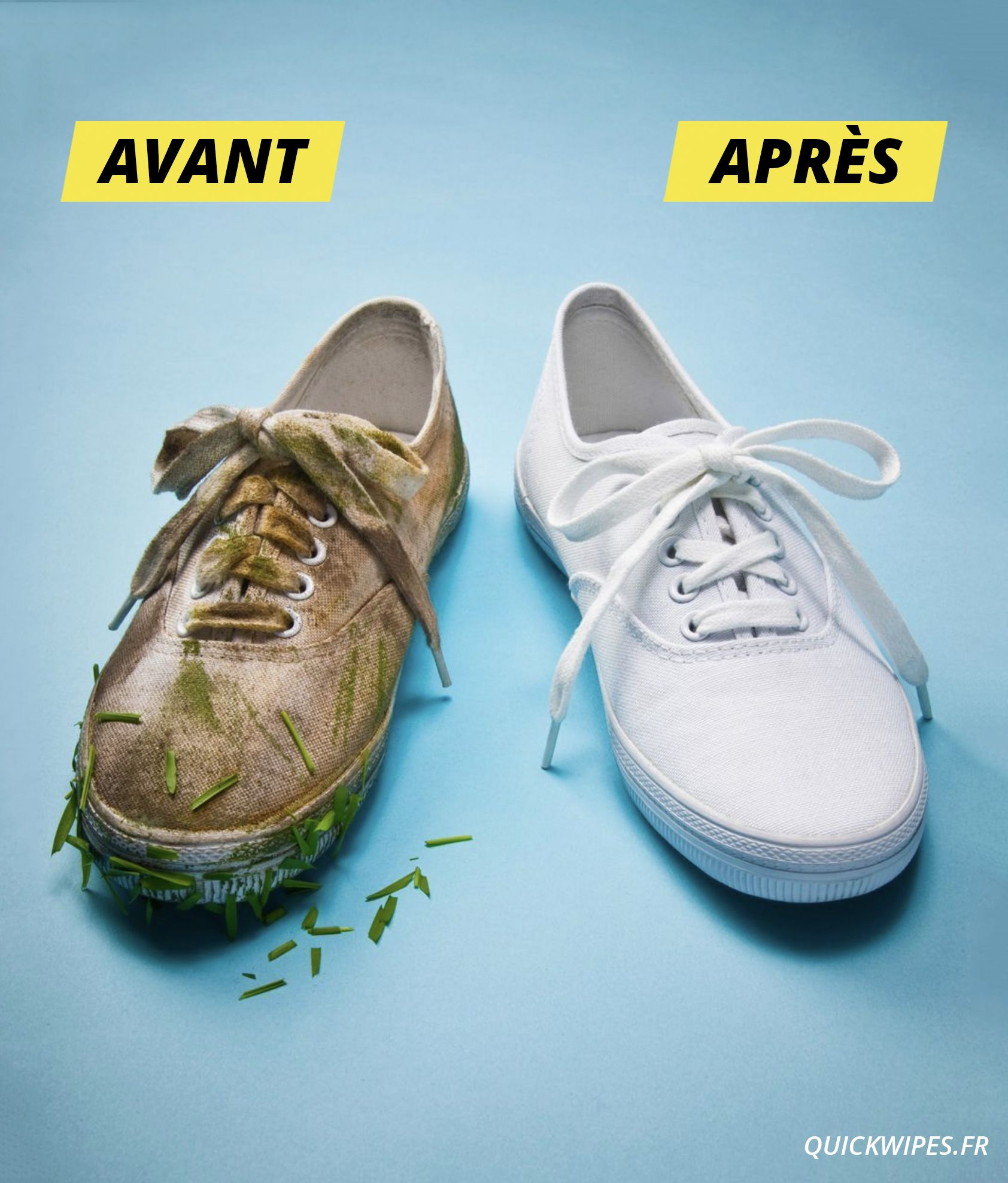 Baskets blanches: comment les nettoyer? L'Express