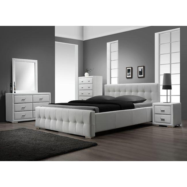 Weißes Schlafzimmer Set King Schlafzimmer Weiß, Schlafzimmer-Set ...