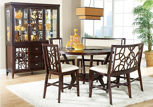 Cindy Crawford Home Highland Park Ebony 5 Pc Counter Height Dining Room Round Dining Room Dining Room Sets Counter Height Dining Room Tables
