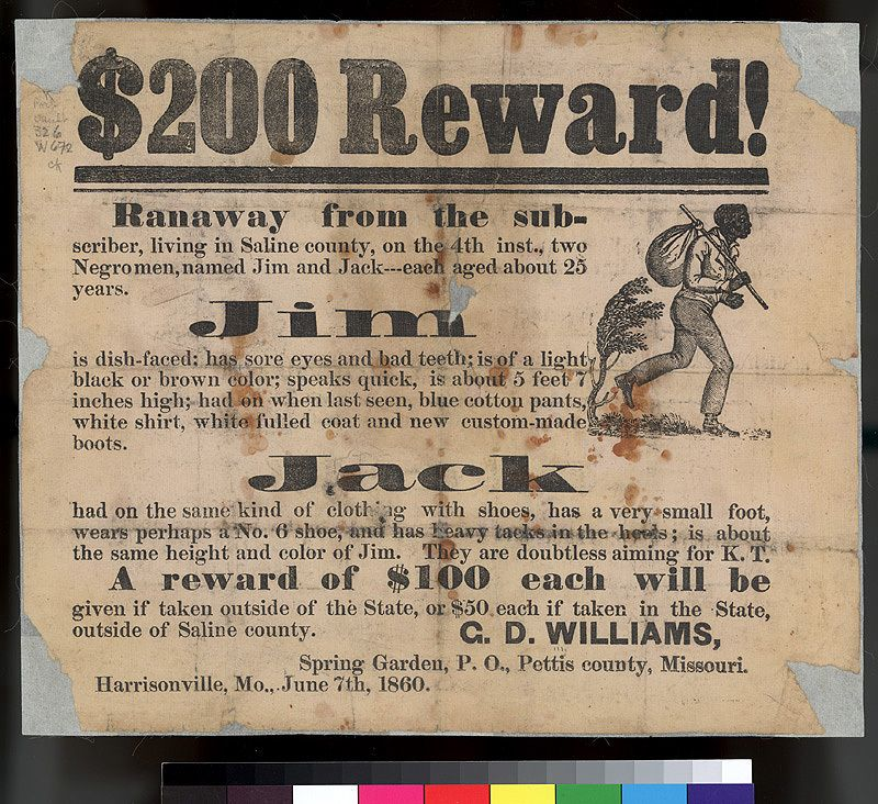 Wanted Poster Offering A Reward Of 200 For The Capture Of Two