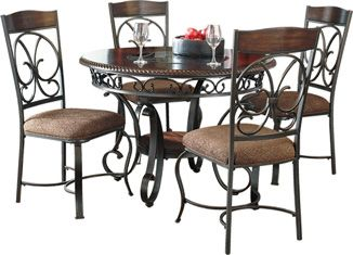 Ashley Glambrey Round Dining Room Table And Chairs With The