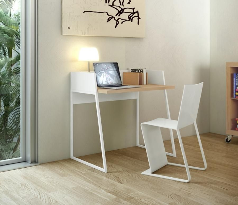 Temahome Volga, Office Desk In Pure White And Oak Or Pure White And Yellow Good Ideas