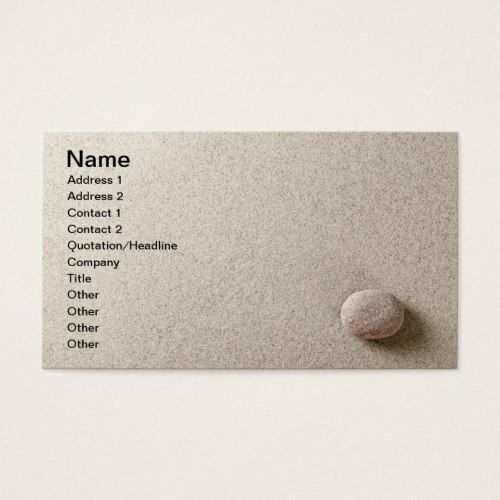 Beige Stone On Sand Background Business