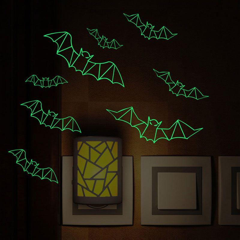 Luminous Bat Wall Sticker Theme Waterproof Removeable