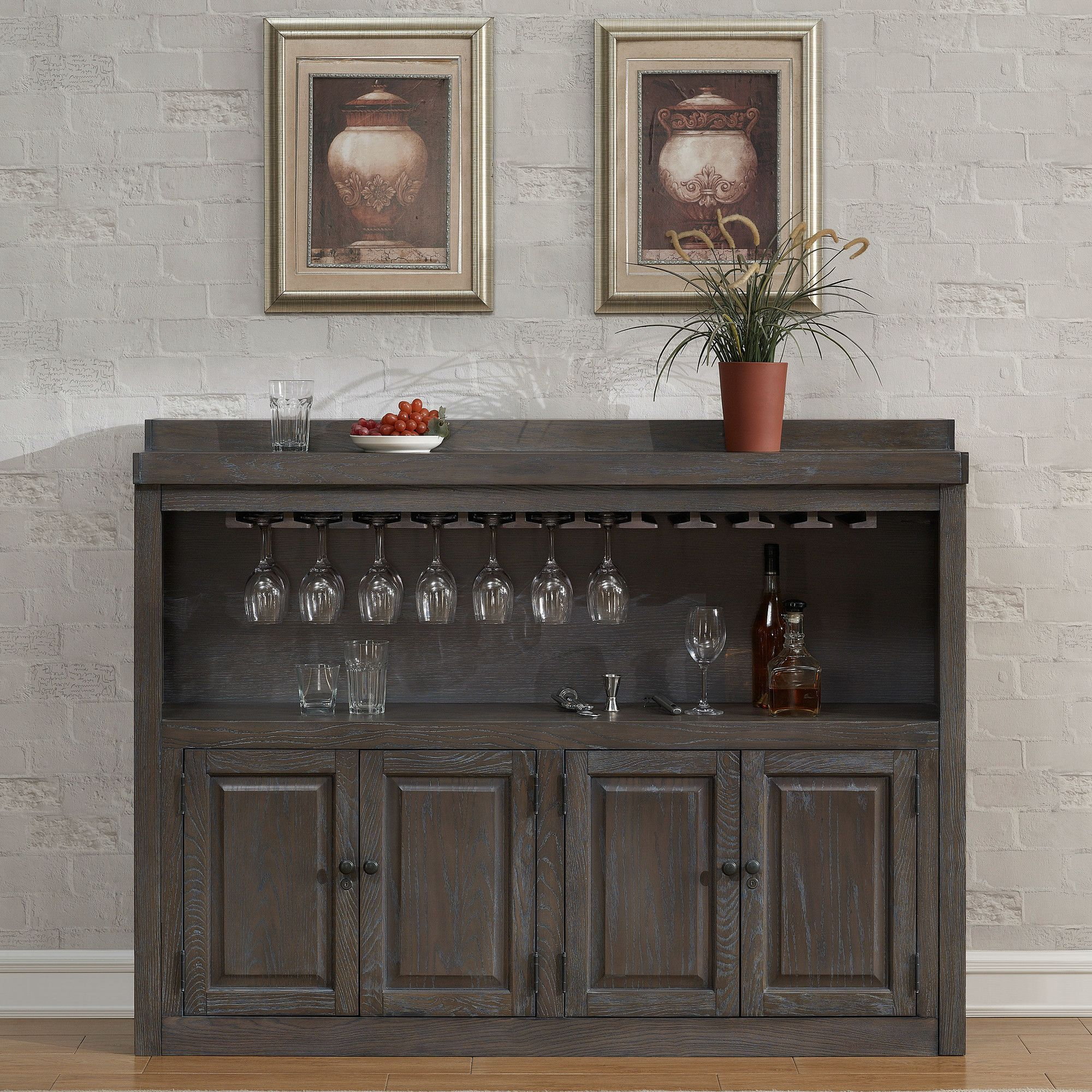 Martino Bar Cabinet with Wine Storage | Products | Pinterest ...