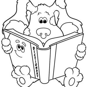 Blues Clues, Blues Clues Read A Dictionary Coloring Page