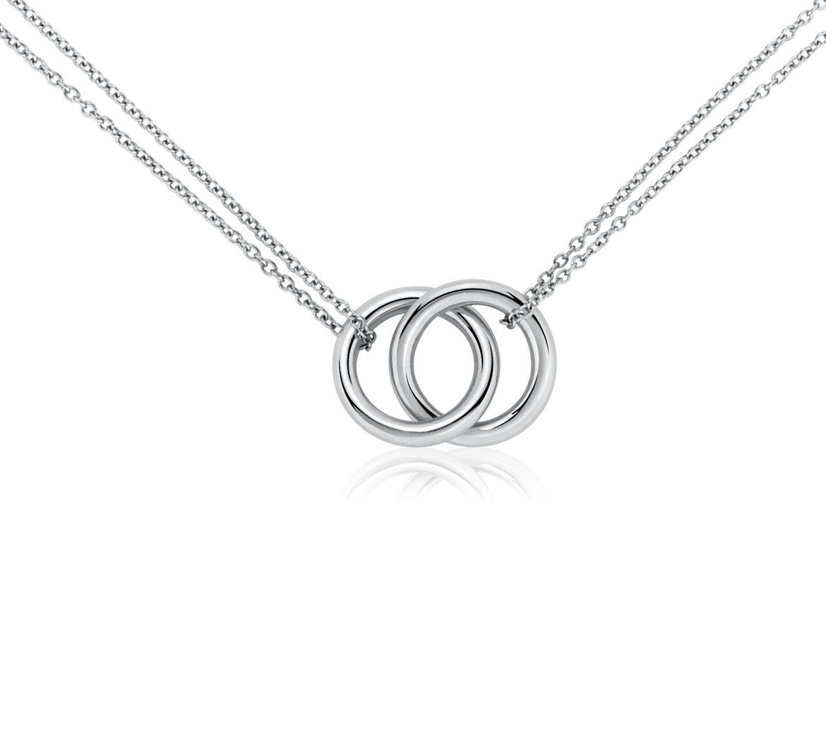 1d1727d21b7 Infinity Rings Necklace In Platinum | My Style | Ring necklace ...