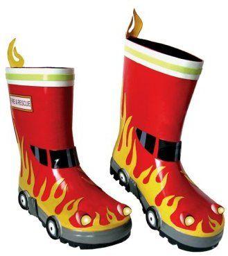 Kidorable Little Boys' Fireman Rain Boots | 키도러블 | Pinterest ...